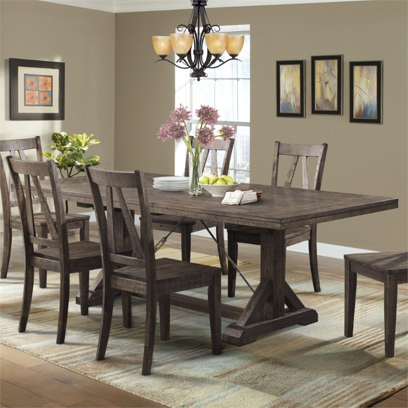 Picket House Furnishings Flynn Dining Table in Walnut