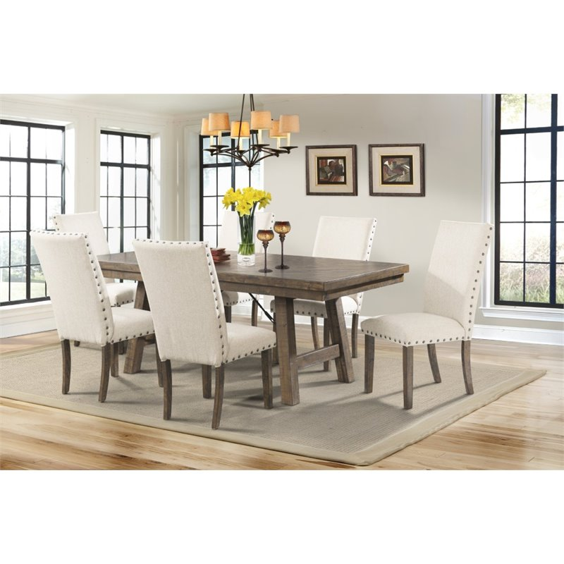 Picket House Furnishings Dex Dining Table in Smokey Walnut