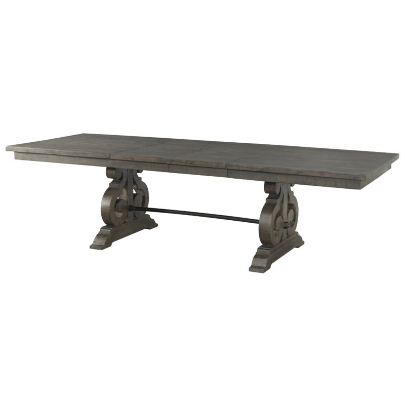 Picket House Furnishings Stanford Dining Table in Dark Ash
