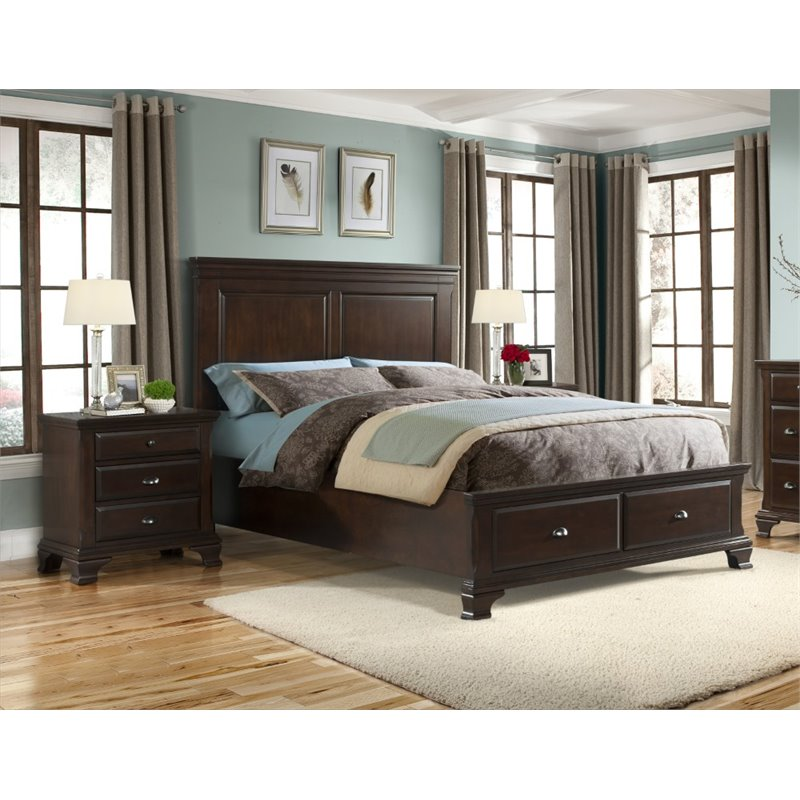 Picket House Furnishings Brinley 3 Piece King Bedroom Set in Cherry