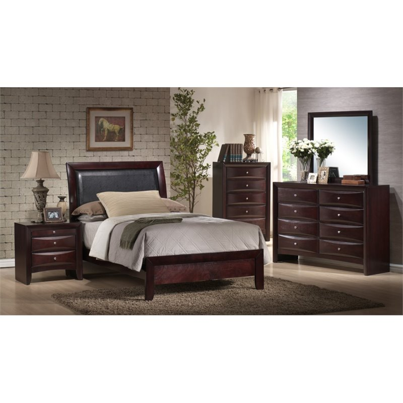 Picket House Furnishings Madison 6 Piece Full Bedroom Set in Mahogany