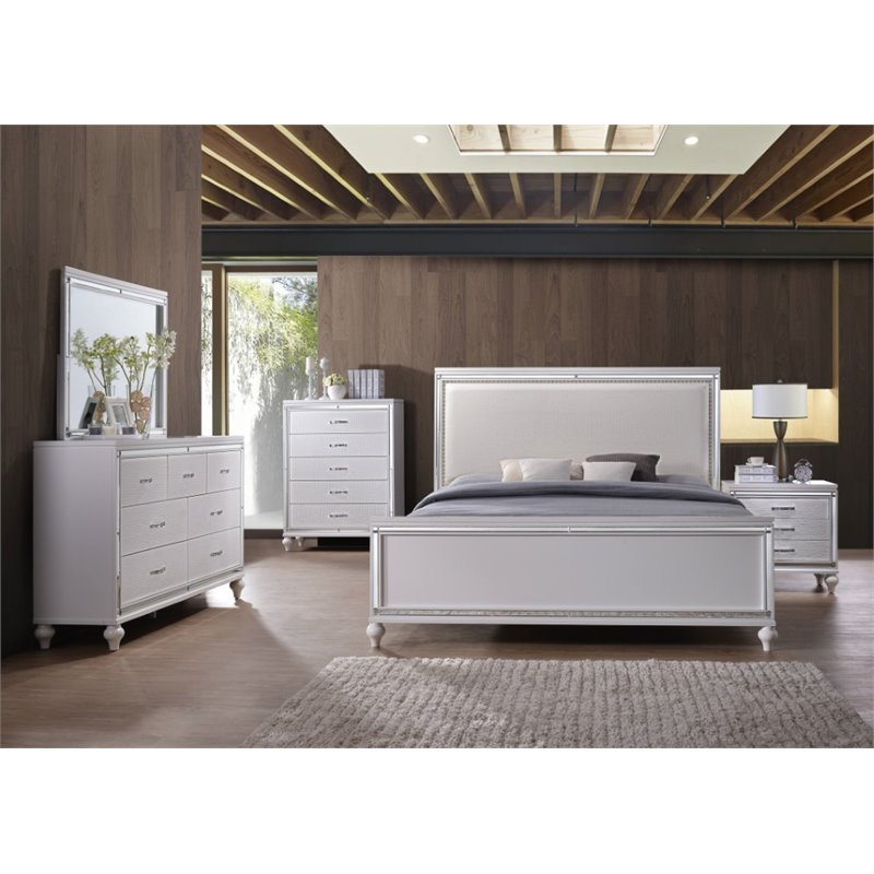 Picket House Furnishings Vice 6 Piece Queen Bedroom Set in White