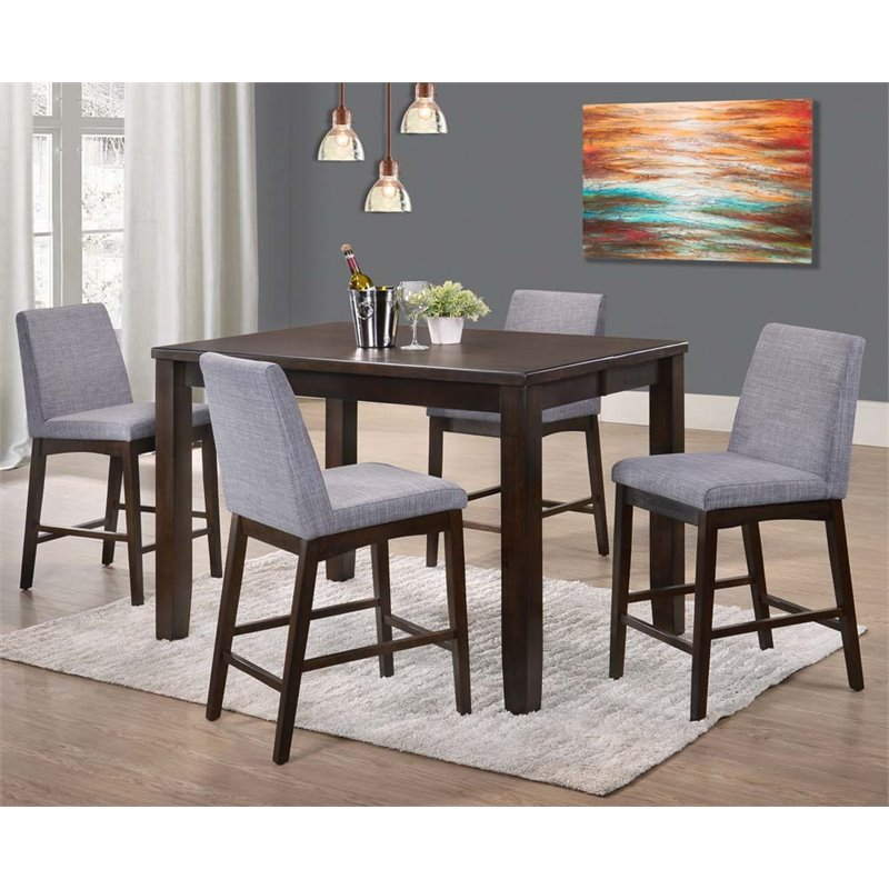 Picket House Furnishings Pyke 5 Piece Counter Height Dining Set