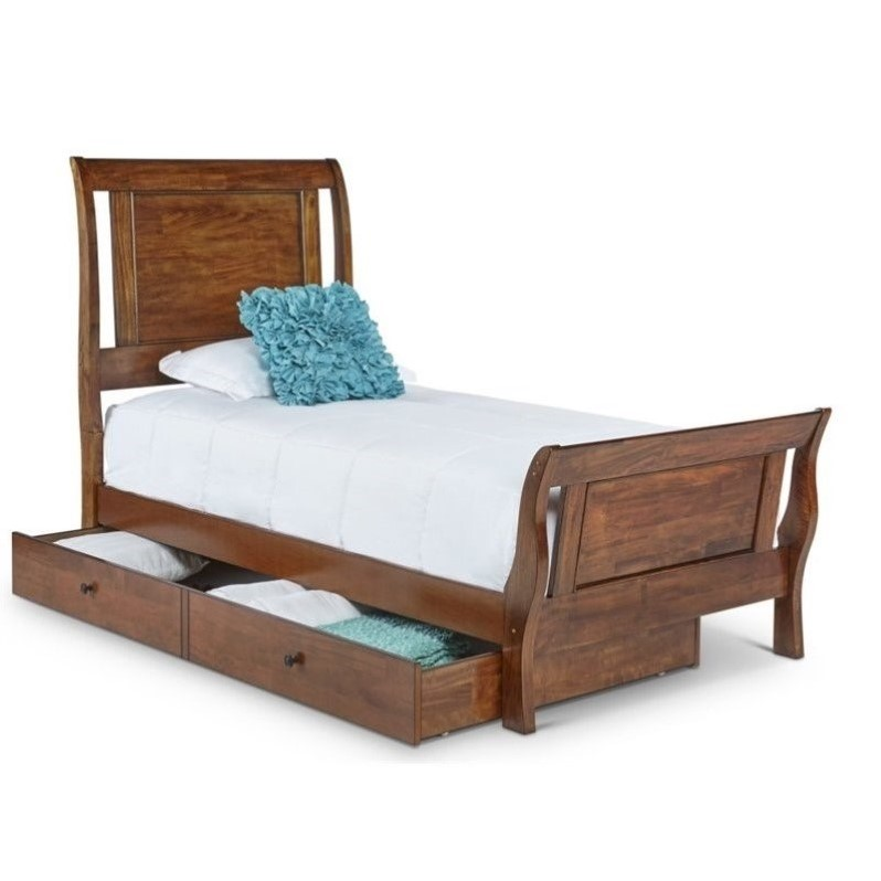 Picket House Furnishings Tucson Youth Bed in Light Brown Lacquer-Twin