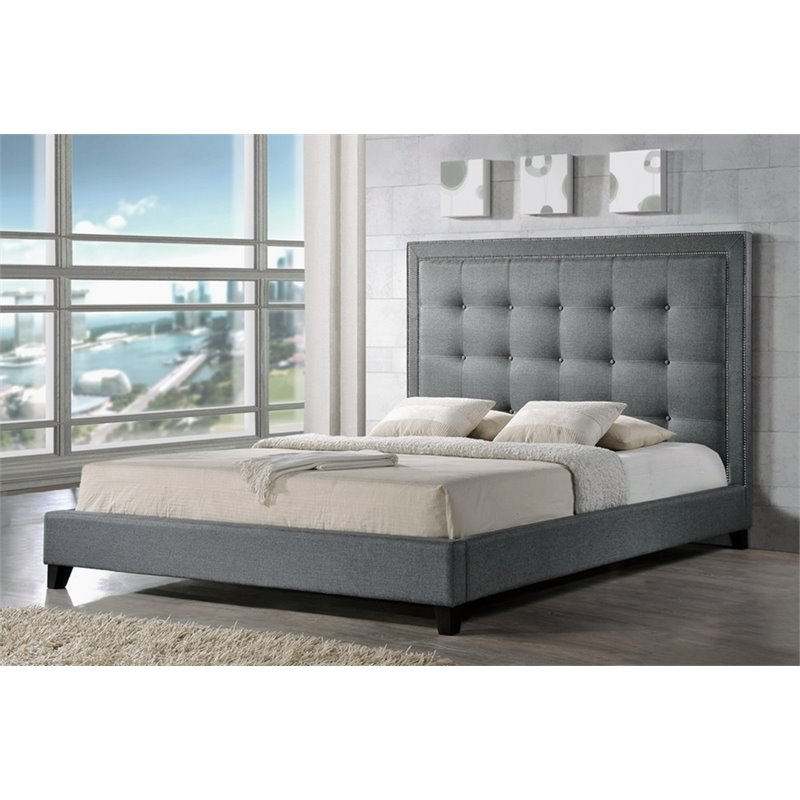 Hirst King Platform Bed in Gray