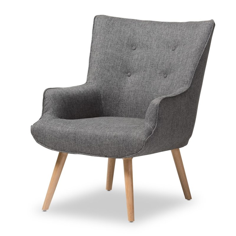Nola Upholstered Armchair in Gray