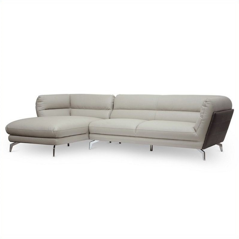 Quall 2 Piece L-shaped Sectional Sofa in Gray
