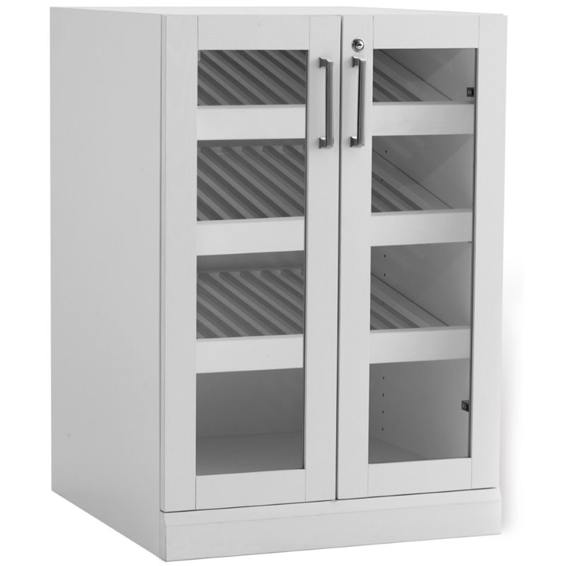 NewAge Home Bar 35 Wine Display Cabinet in White