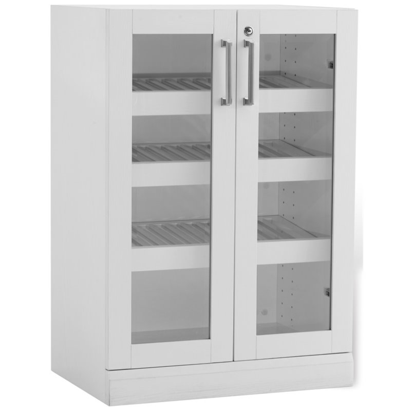 NewAge Home Bar 57 Wine Display Cabinet in White