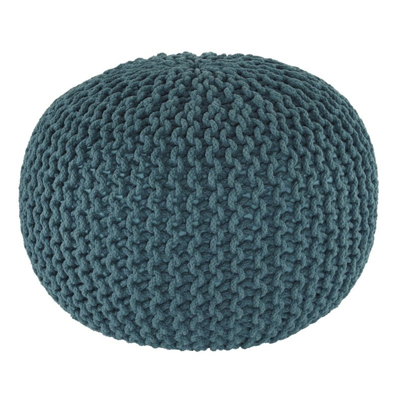 Ashley Nils Sphere Pouf in Teal