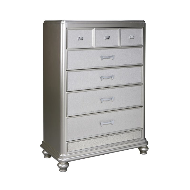 Ashley Coralayne 5 Drawer Chest in Silver