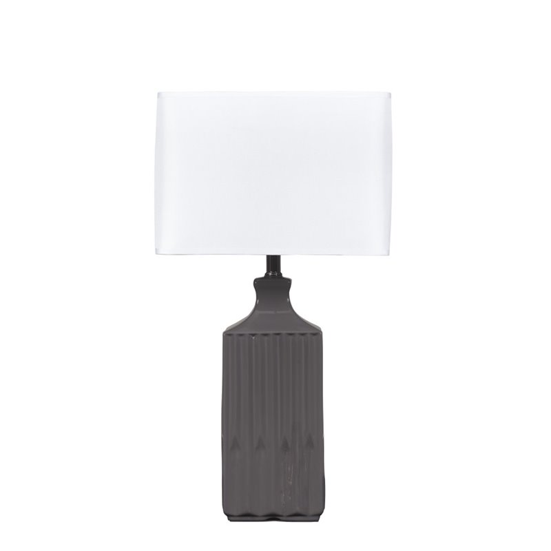 Ashley Patience Ceramic Table Lamp in Gray (Set of 2)
