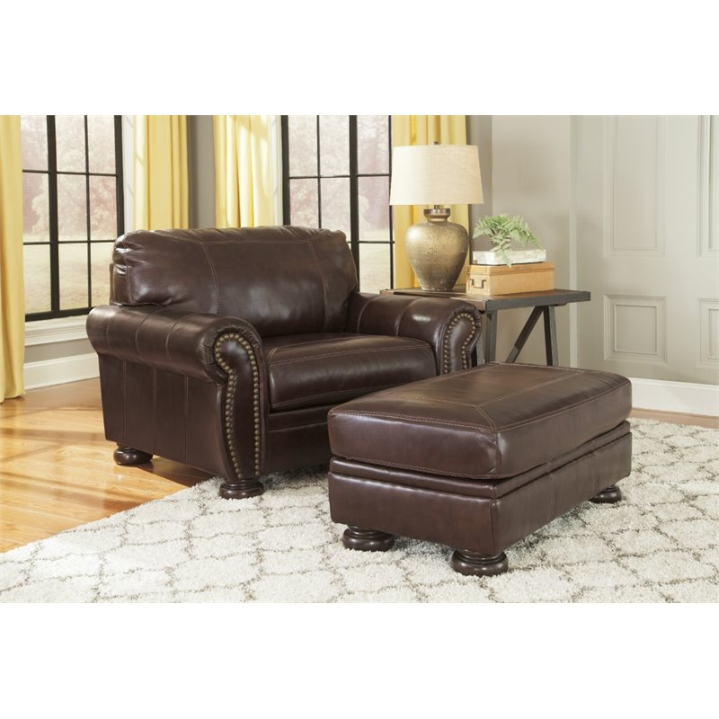 Ashley Banner 2 Piece Sofa Set in Coffee
