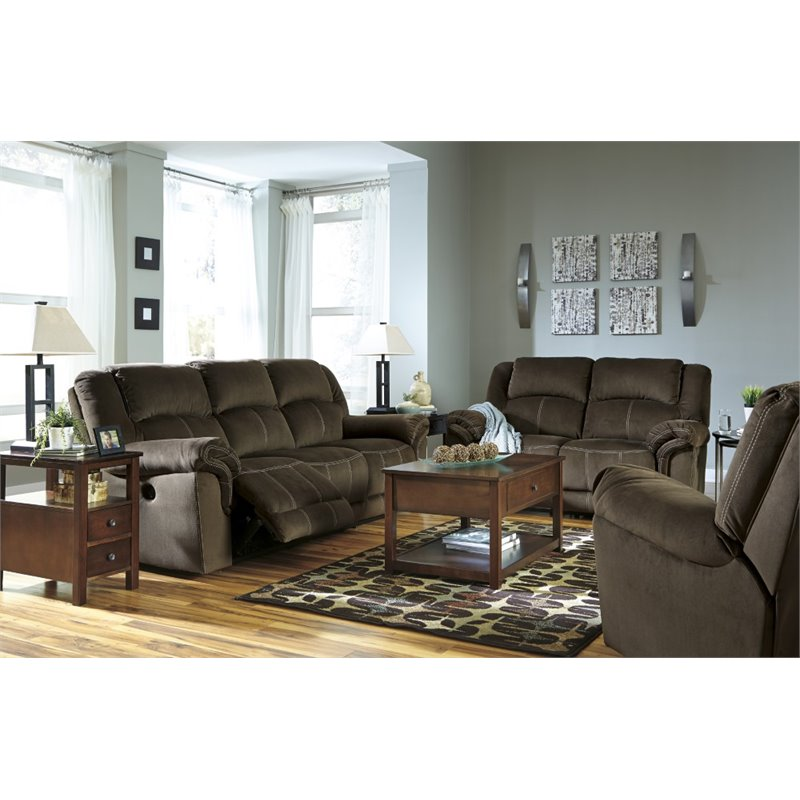 Ashley Quinnlyn 3 Piece Sofa Set in Coffee