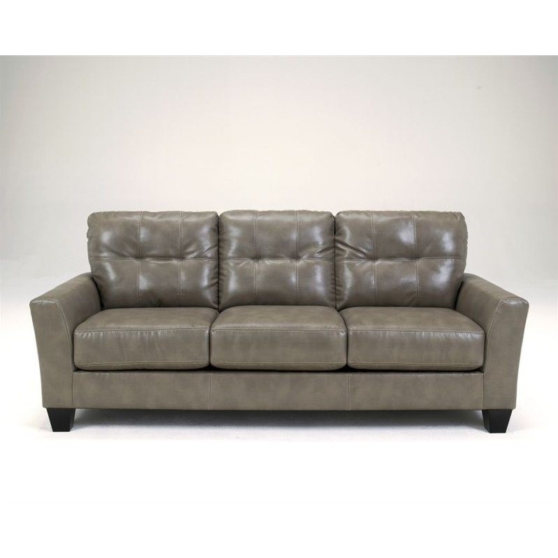 Ashley Furniture Paulie Leather Sofa in Quarry
