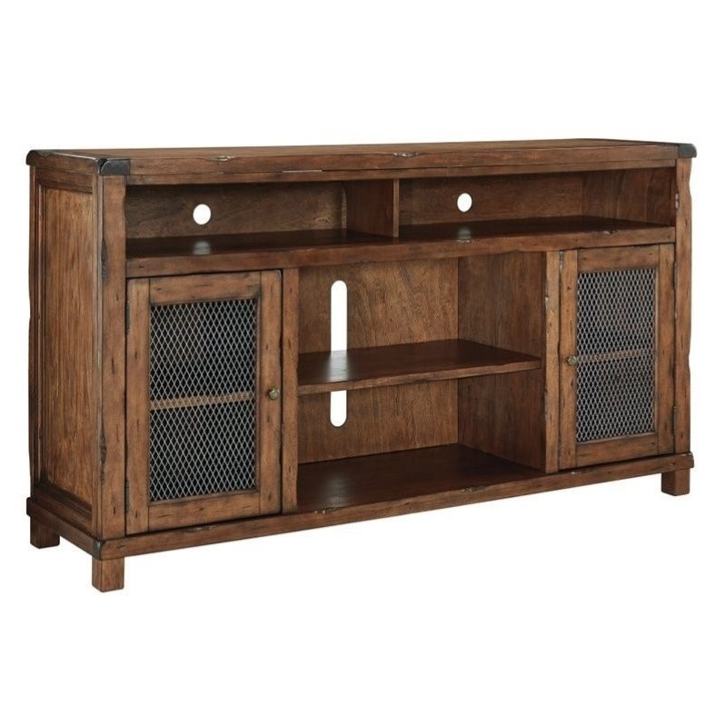 Ashley Tamonie 72 TV Stand in Rustic Brown