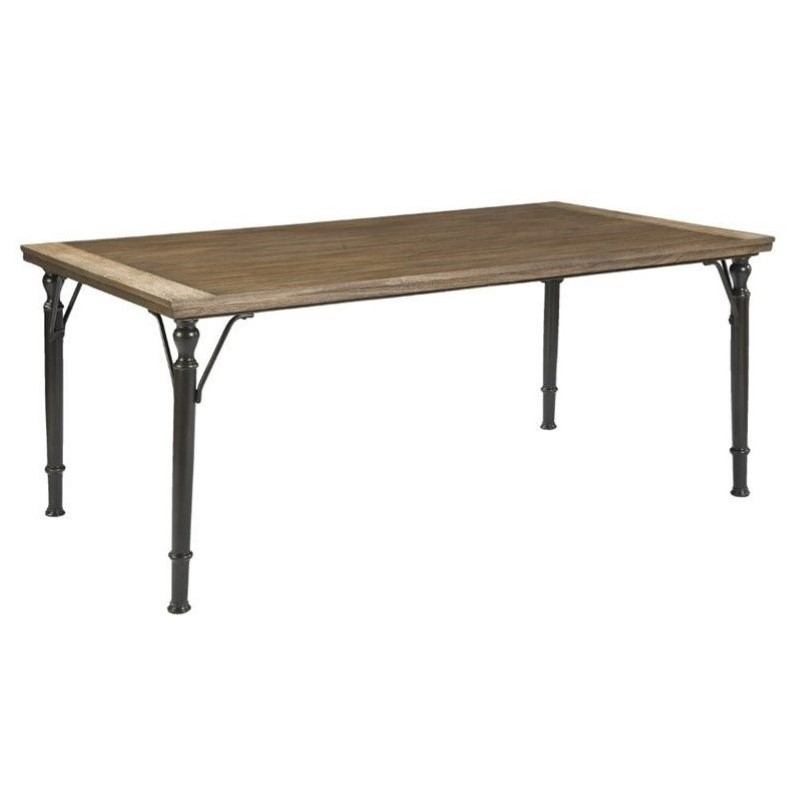 Ashley Tripton Rectangular Dining Table in Medium Brown