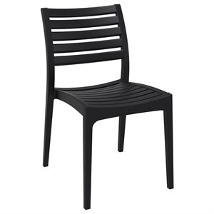 Compamia Ares Outdoor Patio Dining Chair in Black