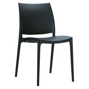 Compamia Maya Patio Dining Chair in Black