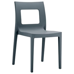 Compamia Lucca Patio Dining Chair in Dark Gray