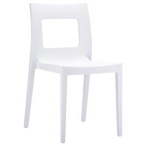 Compamia Lucca Patio Dining Chair in White
