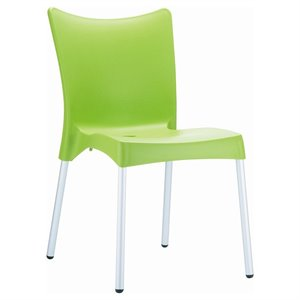 Compamia Juliette Resin Patio Dining Chair in Apple Green