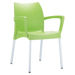 Compamia Dolce Resin Outdoor Arm Chair in Apple Green