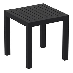 Compamia Ocean Square Resin Patio Side Table in Black