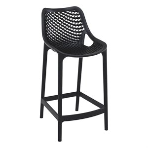 Compamia Air Patio Counter Stool in Black