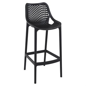 Compamia Air Patio Bar Stool in Black