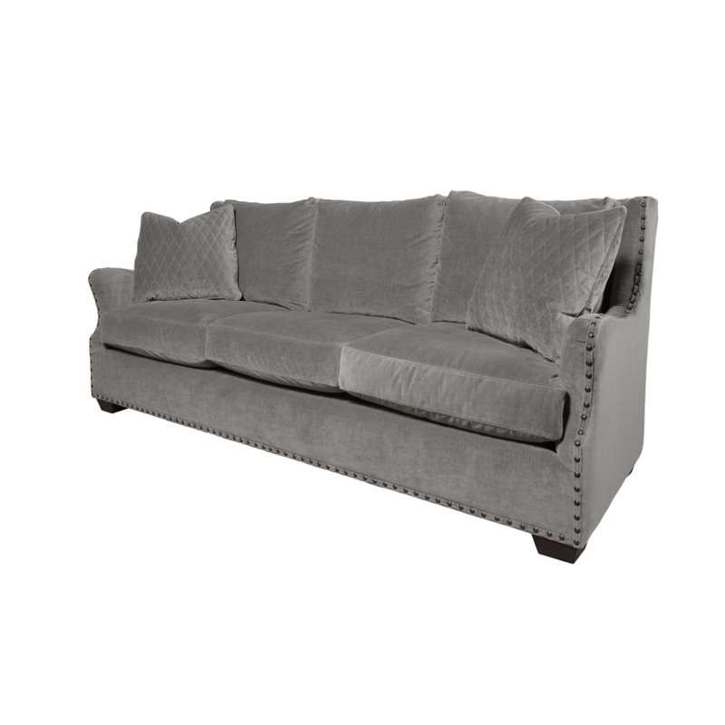 Universal Furniture Curated Connor Upholstered Sofa in Gray