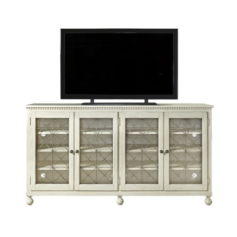 Universal Furniture Sojourn 80 TV Stand in Summer White