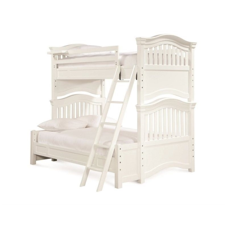Smartstuff Classics 4.0 Twin Over Full Bunk Bed in Summer White