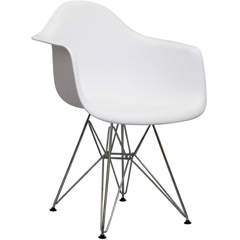 Modway Paris Dining Arm Chair in White EEI-181-WHI