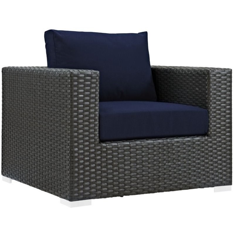 Modway Sojourn Outdoor Armchair in Canvas Navy