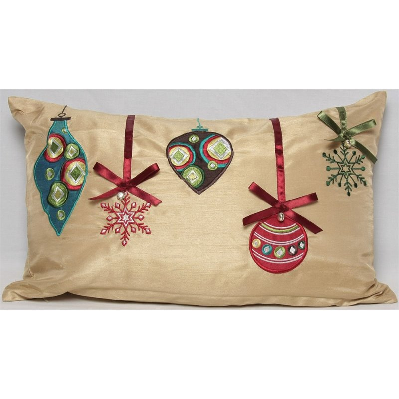Xia Home Fashions 12 x 20 Christmas Ornaments Decorative Pillow