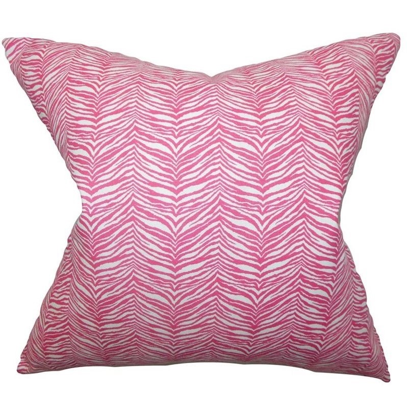 the pillow collection 18 square themis zebra print throw pillow - The Pillow Collection