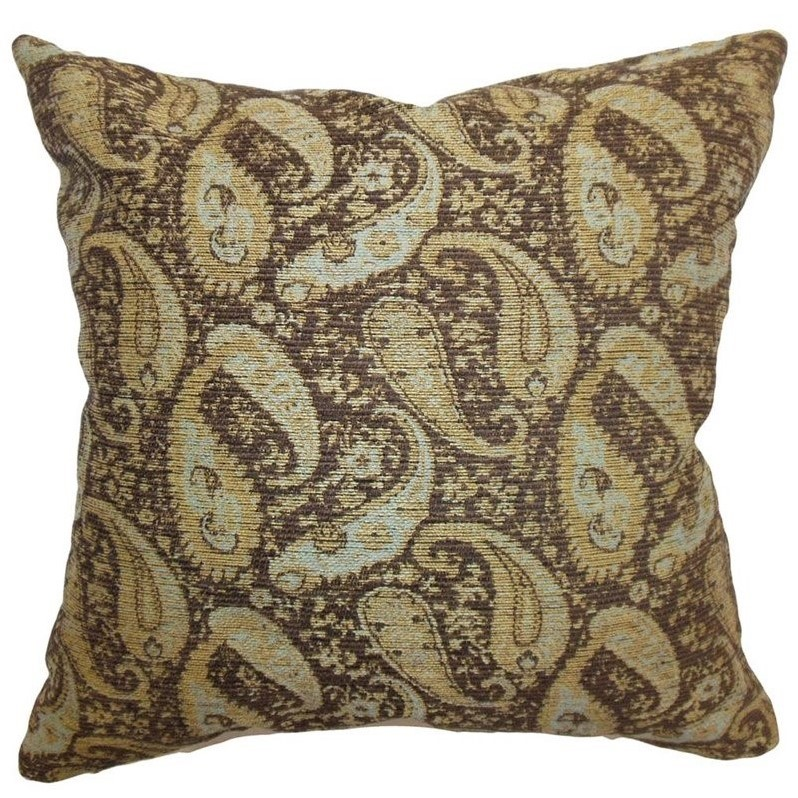 the pillow collection 20 square aeldra paisley throw pillow - The Pillow Collection