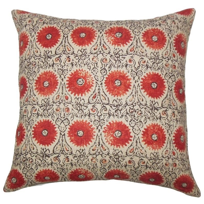 the pillow collection 20 square xaria floral throw pillow - The Pillow Collection