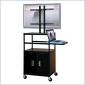 VTI Adjustable Cabinet Cart for up to 47 Flat Panel TV w/ Pull Out Shelf