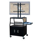VTI Wide Body Cabinet Cart for up to 47  Flat Panel TV  w/ Pull Out Shelf