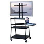 VTI Wide Body Cart for up to 42 Flat Panel TV w/ Pull Out Shelf