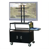 VTI Wide Body Cabinet Cart for up to 55 Flat Panel TV  w/ Pull Out Shelf