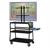 VTI Wide Body Cart for up to 47 Flat Panel TV w/ Pull Out Shelf