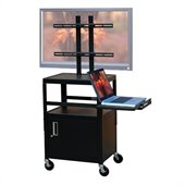 VTI Adjustable Cabinet Cart for up to 32 Flat Panel TV w/ Pull Out Shelf