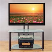 VTI RFR 403 55 Flat Panel TV Stand with Black Frosted Glass