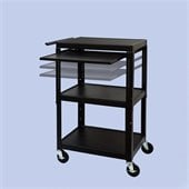 VTI FSC Adjustable Cart With Front/Back Pull Out Shelf