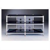 VTI 50 Silver and Black TV Stand