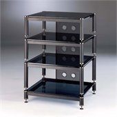 VTI Four Shelf Audio Rack with 13 Bottom Shelf