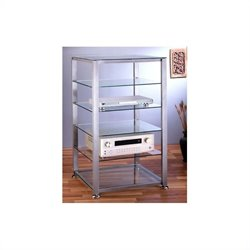 VTI EGR406 6 Shelf Silver Glass Audio Cabinet/Rack